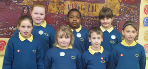 South Abbey Green Council. Members are elected by classmates and represent Junior Infants to Sixth Class.